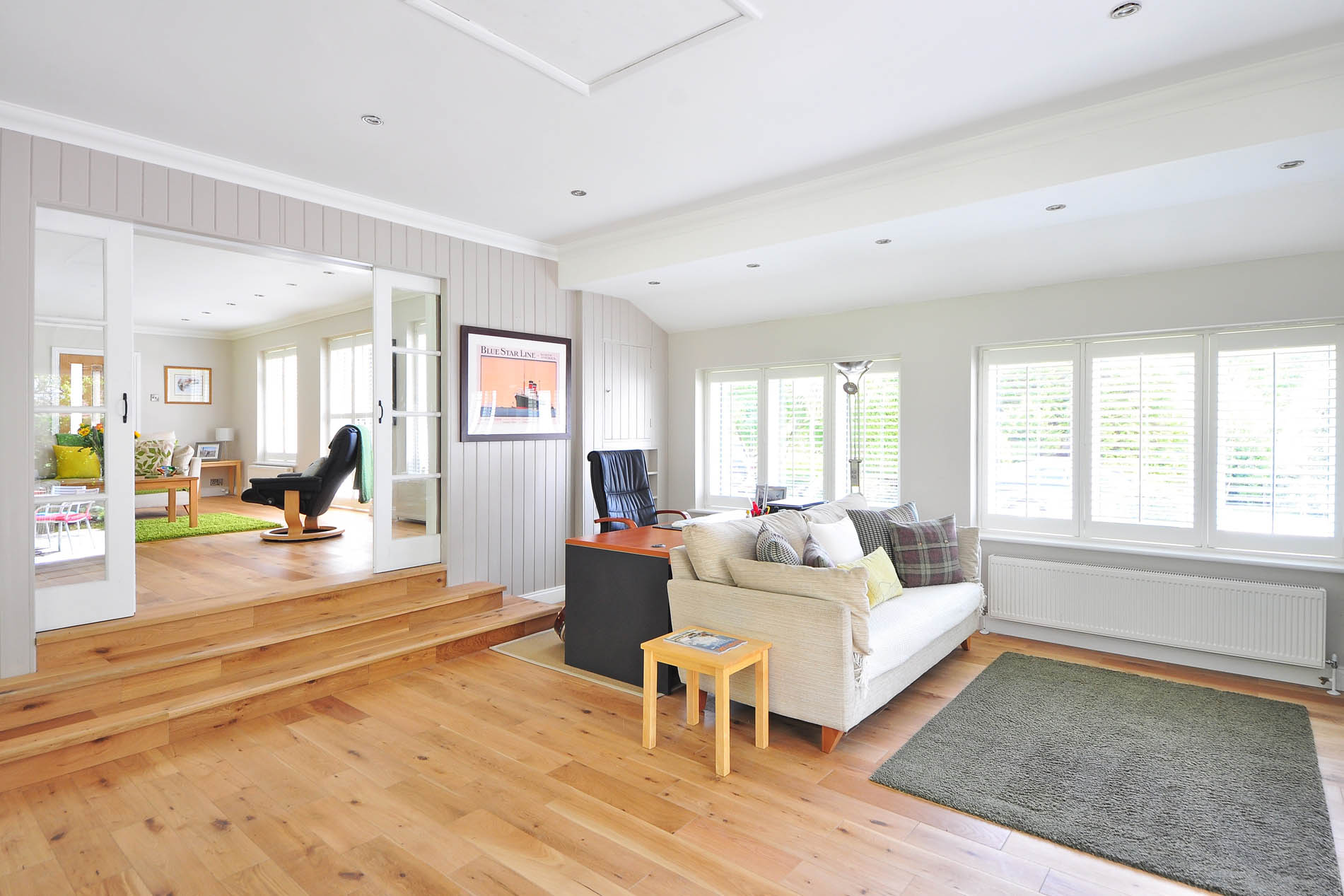 Perfect wooden floor sanding living room